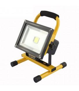 Переносной светодиодный прожектор на стойке 30Вт с аккумулятором