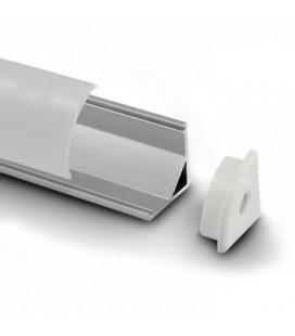 Угловой профиль 45о (1м)+молочный акриловый экран + 2 заглушки