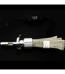 Комплект светодиодных авто LED ламп, головной свет CREE (XBD) H7 с гибким радиатором