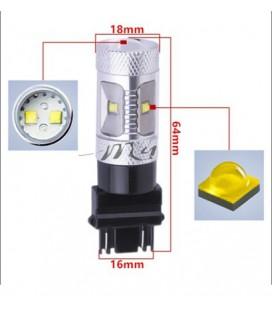 Светодиодная авто лампа 3156 (P27W) , CREE XBD +линза 30 Ватт