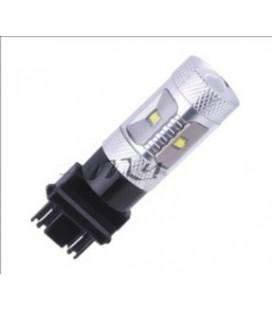 Светодиодная авто лампа 3157 (P27/7W) , CREE XBD +линза 30 Ватт