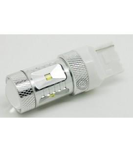 Светодиодная авто лампа 7440 (W21W, T20), CREE XBD +линза 30 Ватт