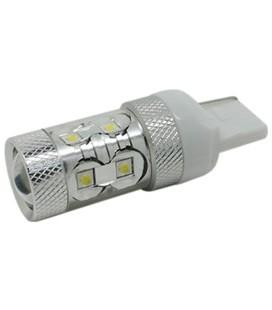 Светодиодная авто лампа 7440 (W21W, T20), CREE XBD +линза 50 Ватт