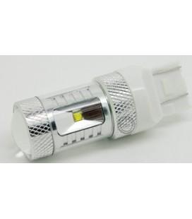 Светодиодная авто лампа 7443 (W21/5W, T20), CREE XBD +линза 30 Ватт