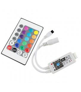 Мини Wifi +ИК Контроллер RGBW/RGBW.W с пультом 24 кнопки