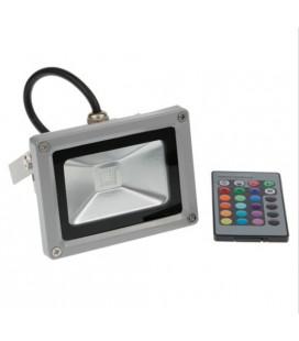 Светодиодный прожектор  RGB-10W-IP65-220V
