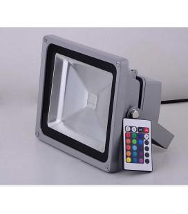 Светодиодный прожектор RGB 20W-IP65-220V