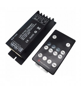 Радио диммер для одноцветной ленты, с возможностью синхронизации, пульт 14 кнопок, 25А