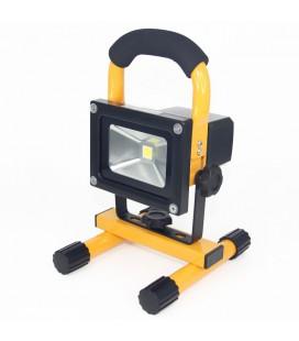 Переносной светодиодный прожектор на стойке 10Вт с аккумулятором