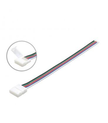 Соединитель односторонний RGB+W (12мм 5050, провод 10-15 см )