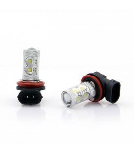 Светодиодная авто лампа ПТФ, CREE XBD +линза H11 50 Ватт