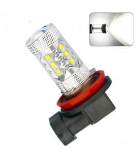 Светодиодная авто LED лампа ПТФ, CREE XBD +линза H11 80 Ватт