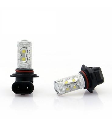 Светодиодная авто лампа ПТФ, CREE XBD +линза 9006 (HB4) 50 Ватт
