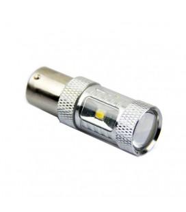 Светодиодная авто лампа 1156(P21W, BA15S) , CREE XBD +линза 30 Ватт