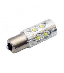 Светодиодная авто лампа 1156(P21W, BA15S) , CREE XBD +линза 50 Ватт