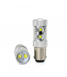 Светодиодная авто лампа 1157(P21/5W) , CREE XBD +линза 50 Ватт