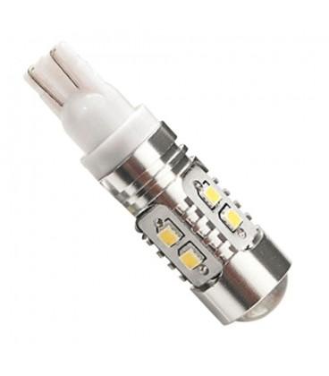 Светодиодная авто лампа T10 (W5W), CREE XBD +линза 50 Ватт