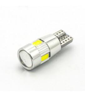 Светодиодная авто лампа T10 (W5W), CREE SMD5630+линза 2,4 Ватт
