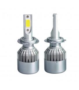Комплект светодиодных авто ламп, головной свет COB H8