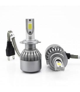 Комплект светодиодных авто ламп, головной свет COB 881 (H27)