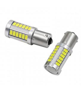 Светодиодная авто лампа 1156(P21W, BA15S) тип: smd 5630 +линза 8 Ватт