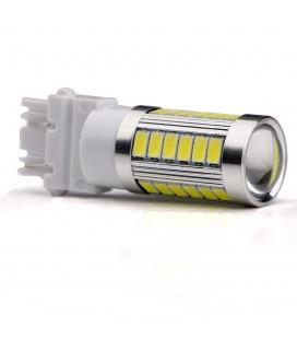 Светодиодная авто лампа 3156 (P27W) 5630 +линза 8 Ватт