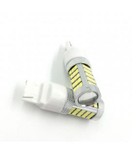Светодиодная авто лампа 7440 (W21W, T20) 2835 +линза 13 Ватт