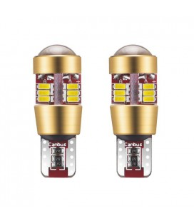 Светодиодная авто лампа c декодером , T10 (W5W),  3014 + линза 3 Ватт