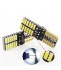 Светодиодная авто лампа c декодером , T10 (W5W), SMD4014(3020)  + линза 2,5 Ватт