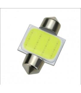 Авто лампа светодиодная c декодером 31 мм, C5W, COB, 2 Ватт
