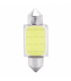 Авто лампа светодиодная c декодером 36 мм, C5W, COB, 2 Ватт