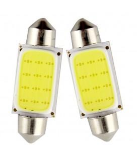 Авто лампа светодиодная c декодером 39 мм, C5W, COB, 2 Ватт