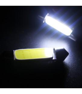Авто лампа светодиодная c декодером 42 мм, C5W, COB, 2 Ватт