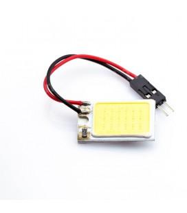 Авто лампа светодиодная панель COB 12V, C5W+T10+T5(BA9S), 3Вт