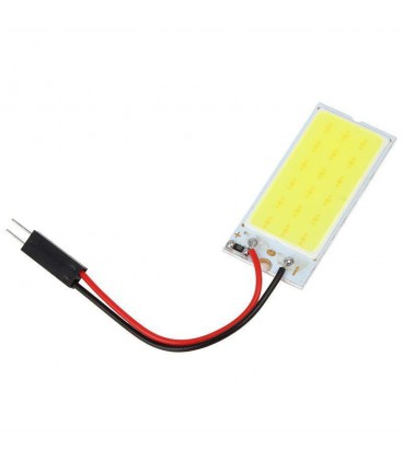 Авто лампа светодиодная панель COB 12V, C5W+T10+T5(BA9S), 12Вт