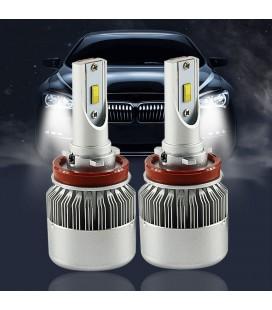 Комплект светодиодных авто ламп, головной свет Flip Chip H11