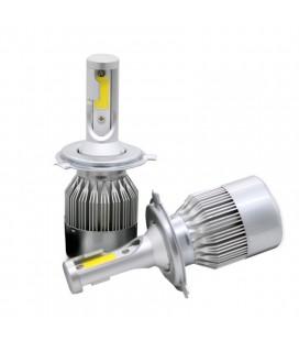 Комплект светодиодных авто LED ламп, головной свет COB H4