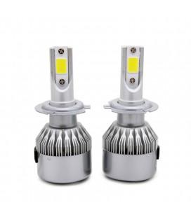 Комплект светодиодных авто LED ламп, головной свет COB H7