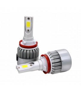 Комплект светодиодных авто ламп, головной свет COB H11