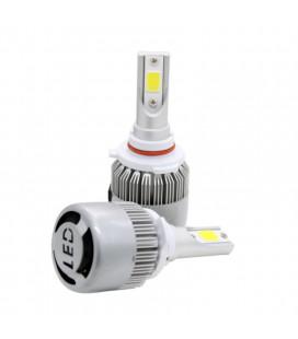 Комплект светодиодных авто LED ламп, головной свет COB HB4 (9006)