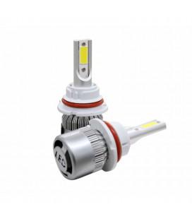 Комплект светодиодных авто ламп, головной свет COB 9007 (HB5)