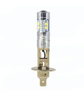 Светодиодная авто LED лампа ПТФ, CREE XBD +линза H1 50 Ватт