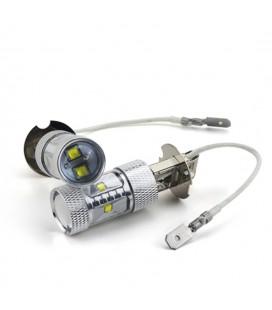 Светодиодная авто LED лампа ПТФ, CREE XBD +линза H3 30 Ватт