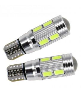 Светодиодная авто лампа T10 (W5W) 5630 + линза 4 Ватт