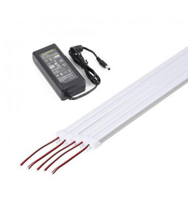 Узкий накладной линейный светильник с матовым экраном 15 Вт, 100 см