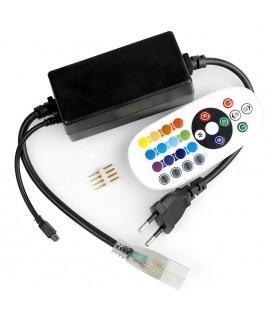 ИК контроллер для Led ленты 220 вольт лайт серия, пульт 24 кнопки