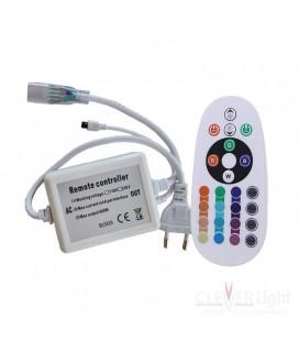 ИК контроллер  для Led ленты 220 вольт стандарт   серия, пульт 24 кнопки