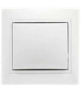 Выключатель 1-клавишный встраиваемый (скрытой установки), белый, 10А