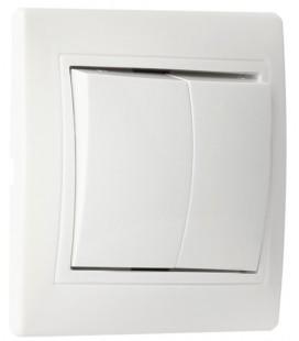 Выключатель 1-клавишный накладной (открытой установки),  с индикатором