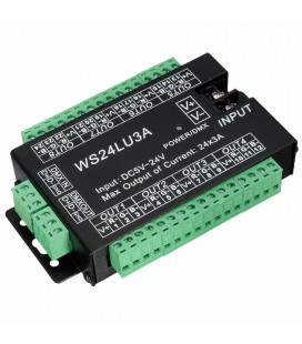 DMX Контроллер / декодер - WS24LU3A, 24CH-3A, RGB-DMX512, DC5V -24V